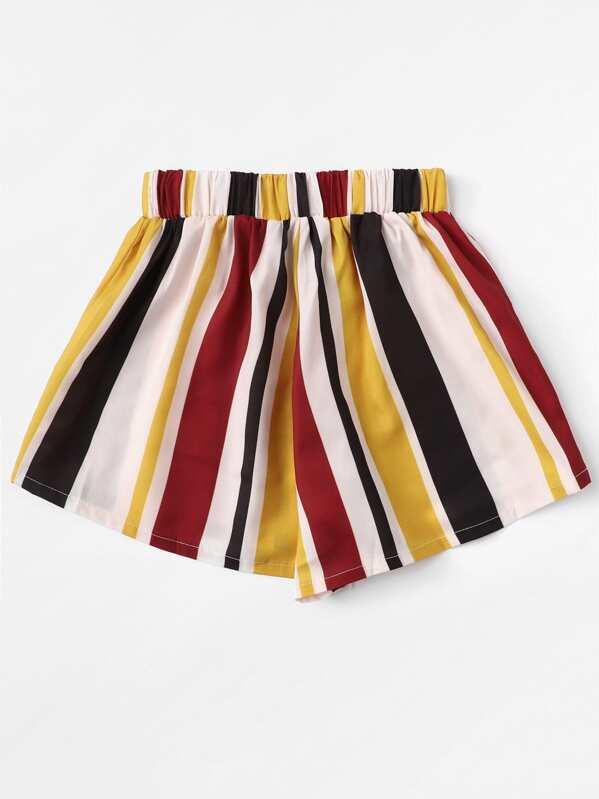 Shorts con elastico in vita e strisce verticali-Italian SheIn(Sheinside) 86c4e04d243