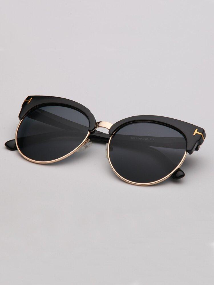 32b5fd69c سلسلة نظارات مطرز. نظارة شمسية عين القط. إختيار المقاس