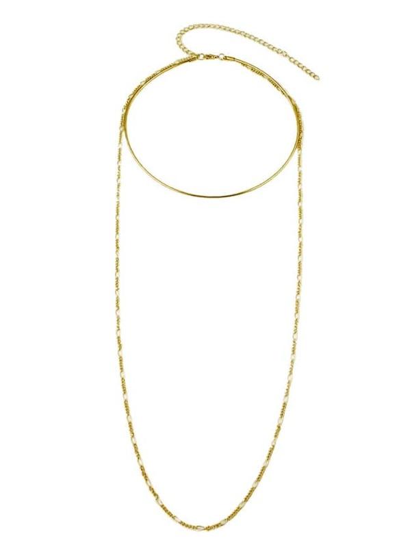 46ae65882a Metal Long Chain Choker Necklaces -SheIn(Sheinside)
