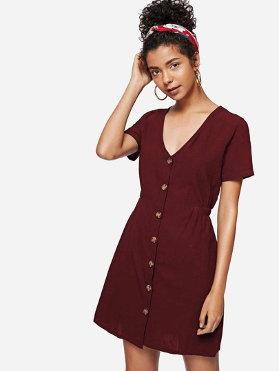 Single Ted Front Dress