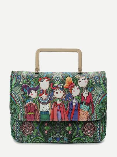 Bolso maletín con dibujos de colores 30f08289c77
