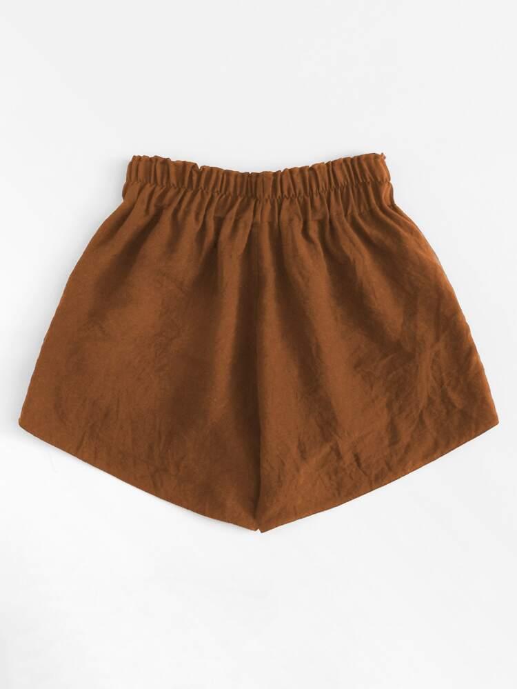 c4900a46e7 Eyelet Lace Up Side Shorts   SHEIN