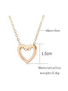 0c4ad70b80 Open Heart Pendant Necklace -SheIn(Sheinside)