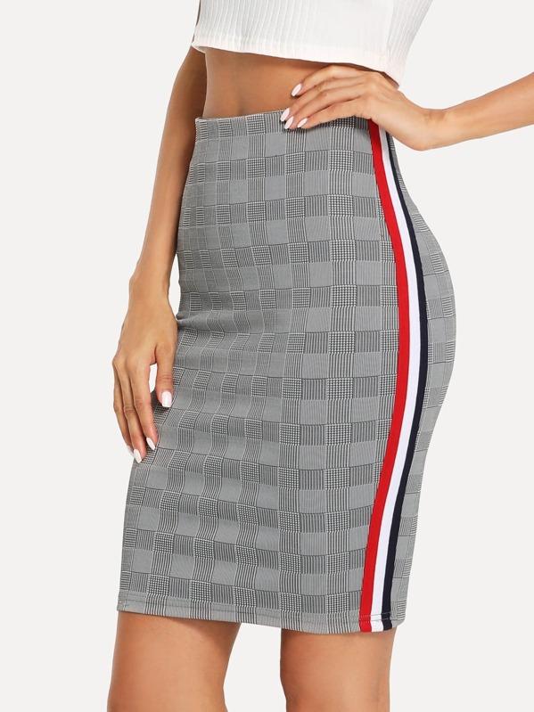 Cheap Striped Side Plaid Pencil Skirt for sale Australia  a62caa7b44a2
