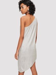 b63910763c4a5 Ein Schulter asymmetrisches Kleid mit O-Ring | SHEIN