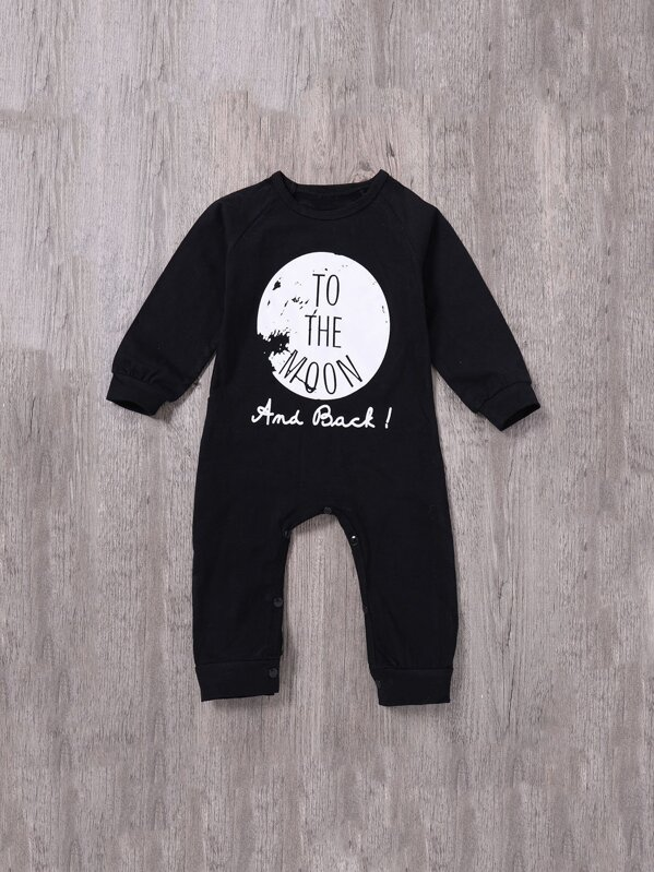 ead106eb0fa79 Toddler Boys Moon And Letter Print Jumpsuit -SheIn(Sheinside)