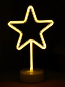 Neon Star Shaped Table Lamp Shein Sheinside