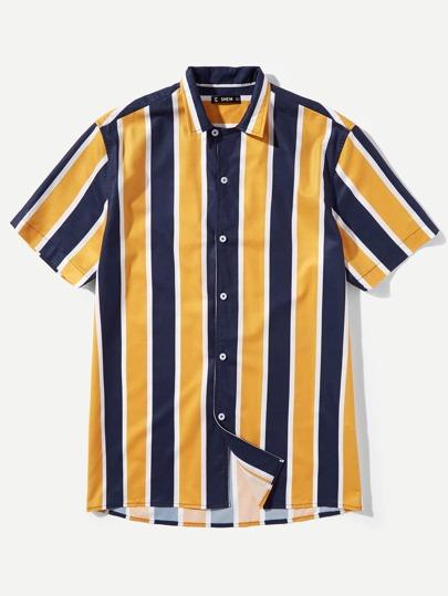 Men Color Block Shirt 5e3dd09cc