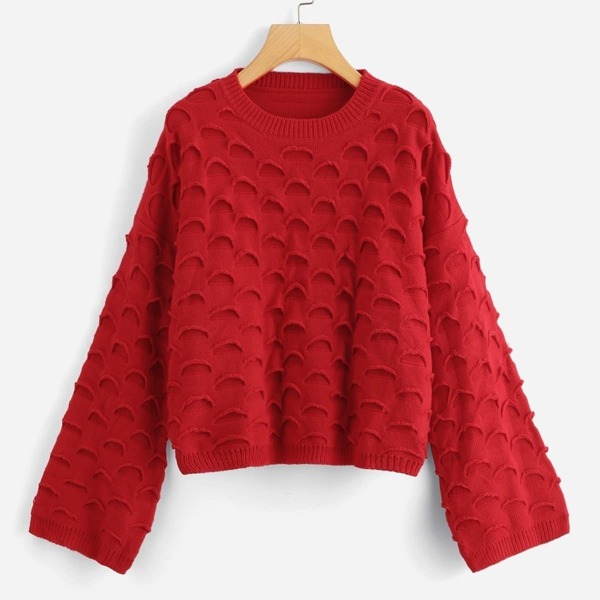 Solid Dropped Shoulder Sweater