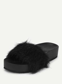 608a8f6522ab Cheap Faux Fur Flatform Sliders for sale Australia
