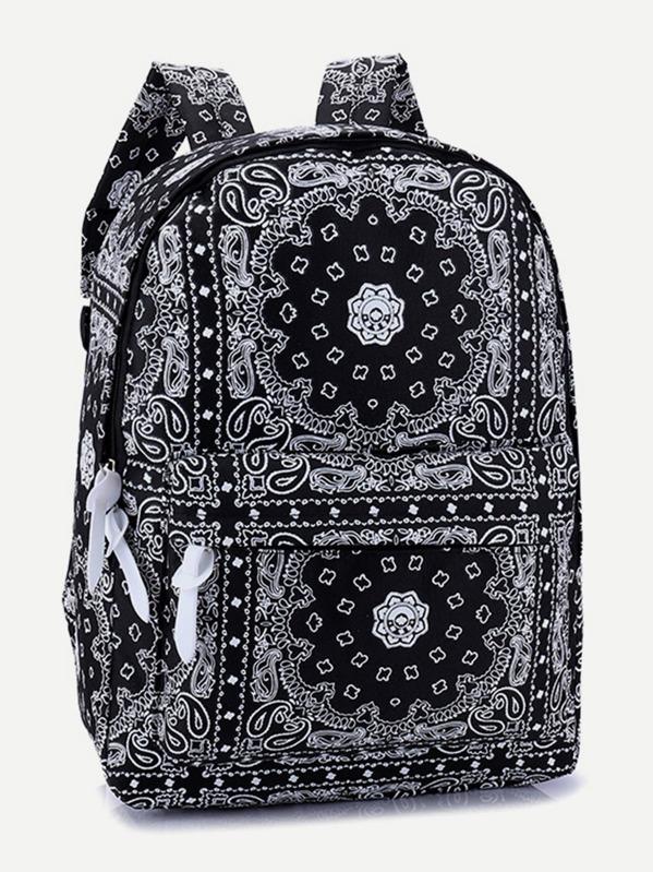 Geometric Pattern Backpack -SHEIN(SHEINSIDE) 633a609d23557
