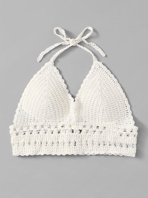 Halter Knit Top -SheIn(Sheinside)