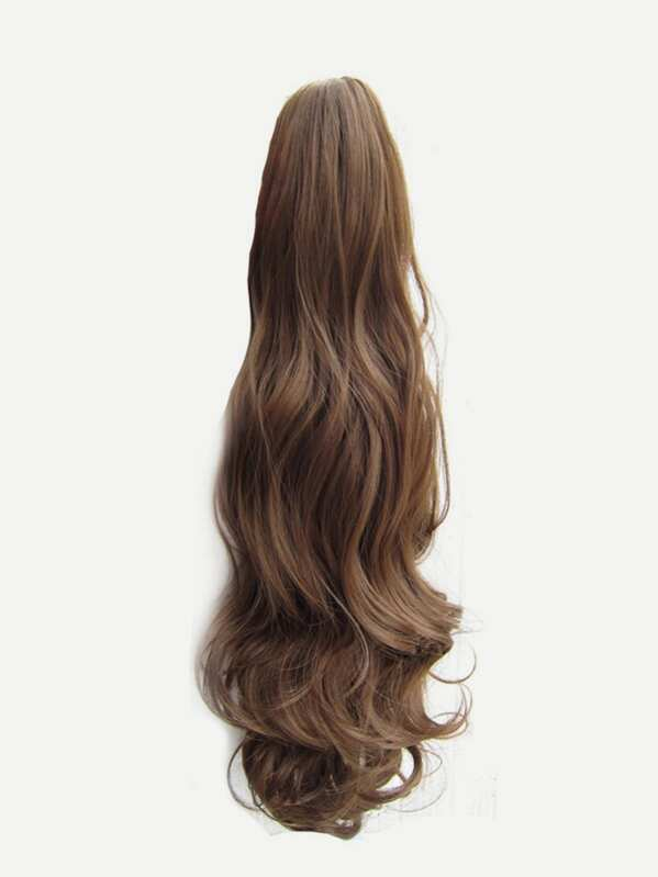 23 Synthetic Long Curly Hair Claw Clip In Ponytail Extension Natural Hairpieces Pt009 P6m613 Inch