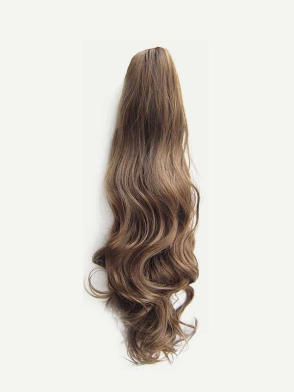 Ponytail Hair Extensions Natural Black Long Curly With Claw Clip In 24 Inches Hairpiece Weave