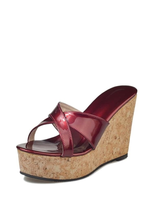 38ea76dec20 Criss Cross Wedge Sandals -SHEIN(SHEINSIDE)