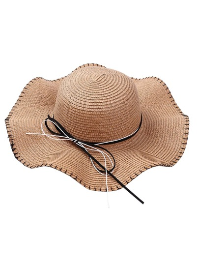 Girls Bow Tie Band Straw Hat 6f86066c5da