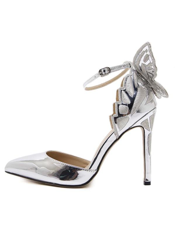 65c2179d5c5 Ankle Strap Butterfly Decor Stiletto Heels -SheIn(Sheinside)
