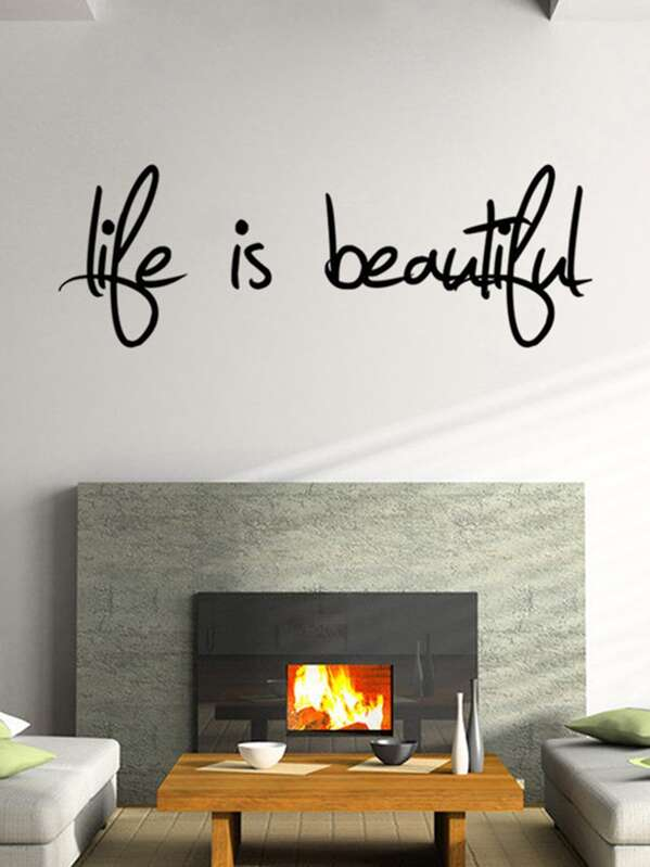 cheap slogan print wall sticker for sale australia | shein