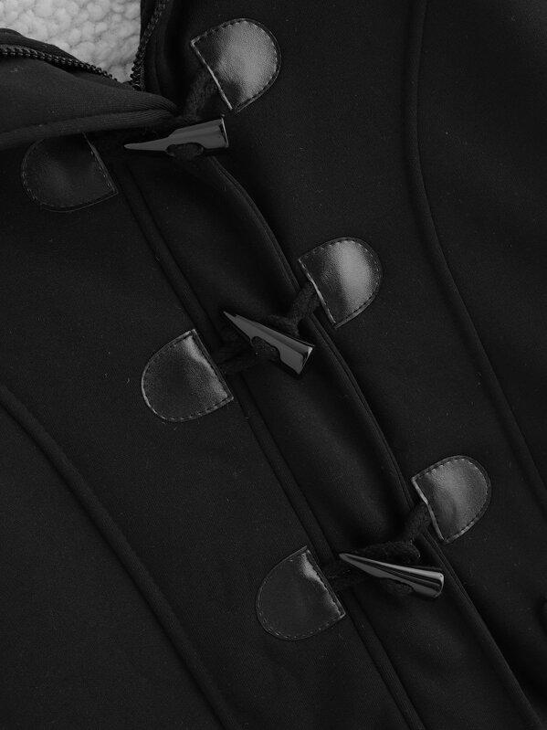 Manteau à Sheinside avec boucle double SheIn de poche French corne vvwxPr