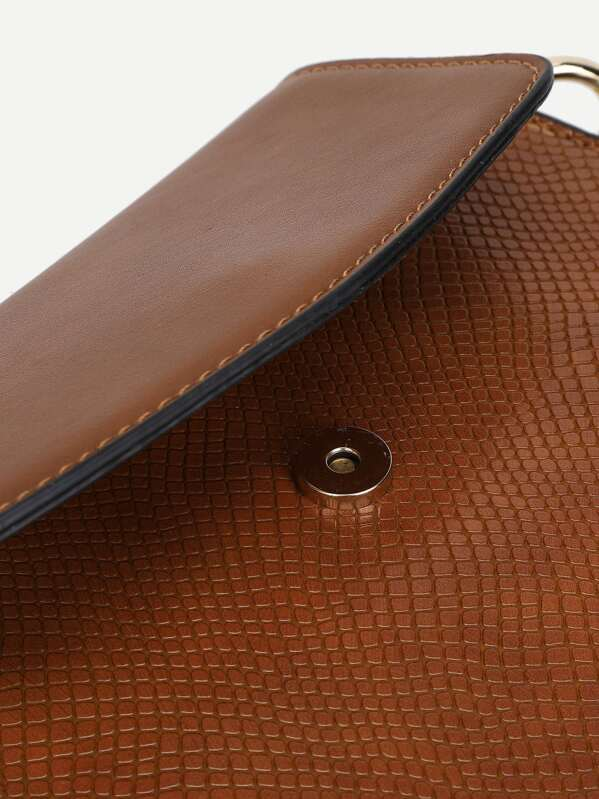 Buttons Flap Sharing Pattern AddThis Snake PU Bag Shoulder AP5p0q1