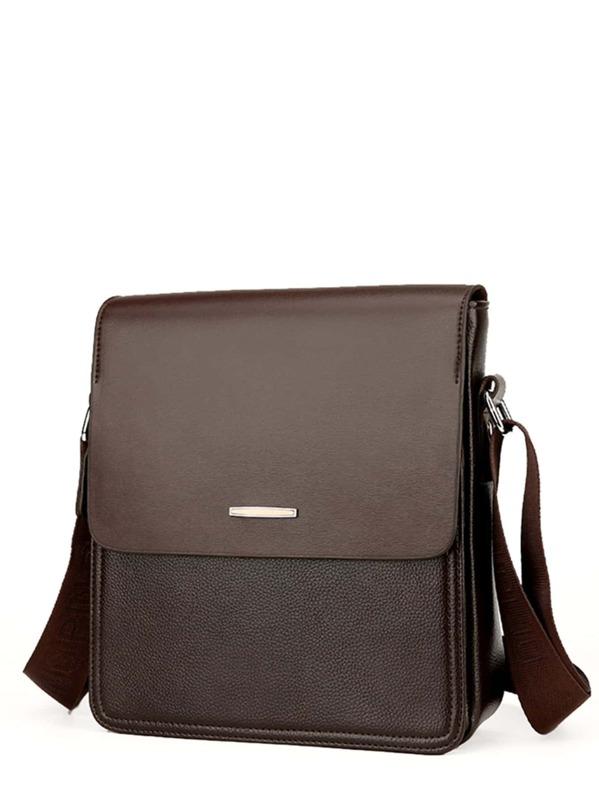 6797856cfa Men Pebble Detail Flap Messenger Bag -SHEIN(SHEINSIDE)
