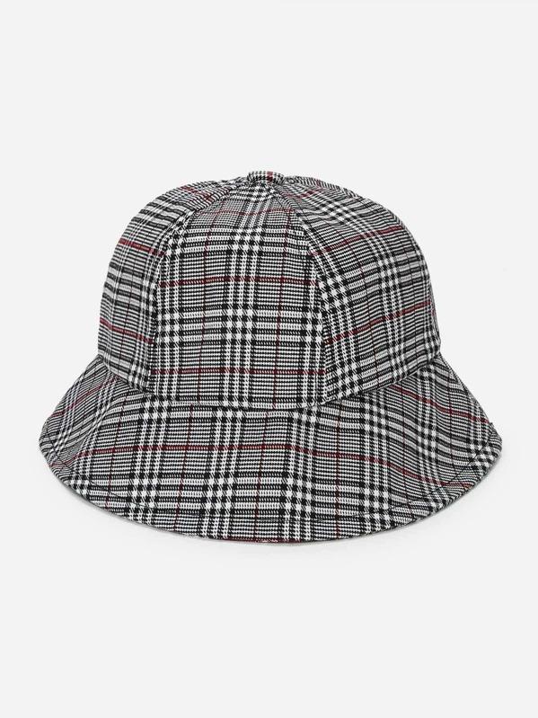 Plaid Bucket Hat -SheIn(Sheinside) 406fb9e2c36