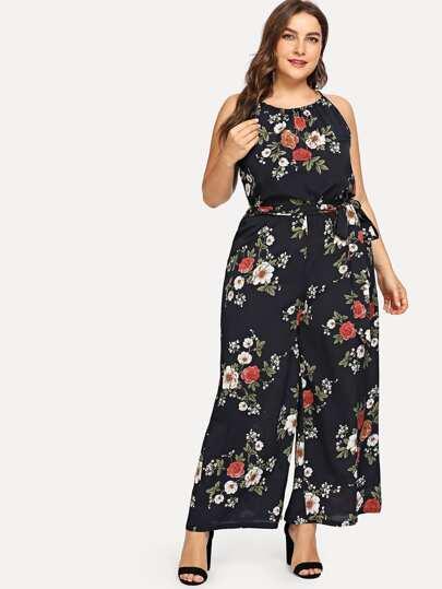 db68adc478e8 Cheap Plus Floral Print Jumpsuit for sale Australia