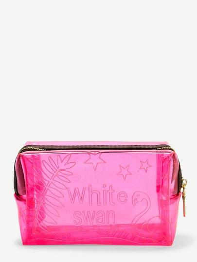 2670282812e0 Clear Zipper Makeup Bag