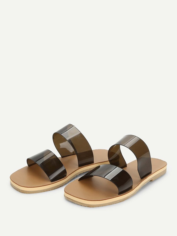 27d2252c1b427 Clear Flat Sandals -SHEIN(SHEINSIDE)