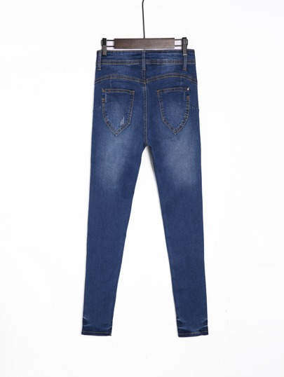 c3d145aab9a Tillfällig Knapp Blå Jeans