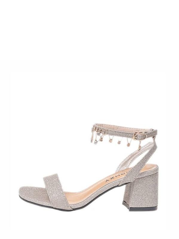 7e7776154f9419 Rhinestone Detail Ankle Strap Sandals -SheIn(Sheinside)