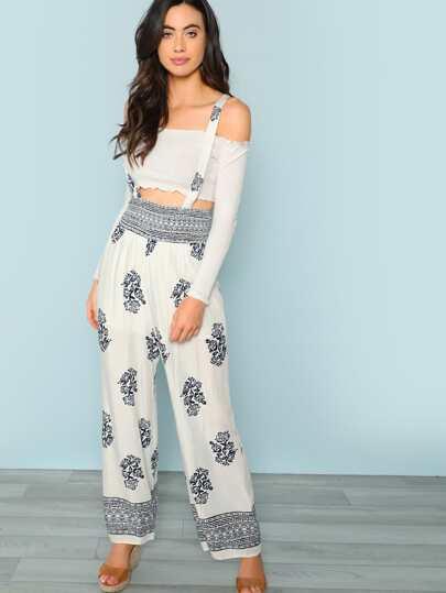 de951ed2ed0d Wide Leg Printed Jumpsuit