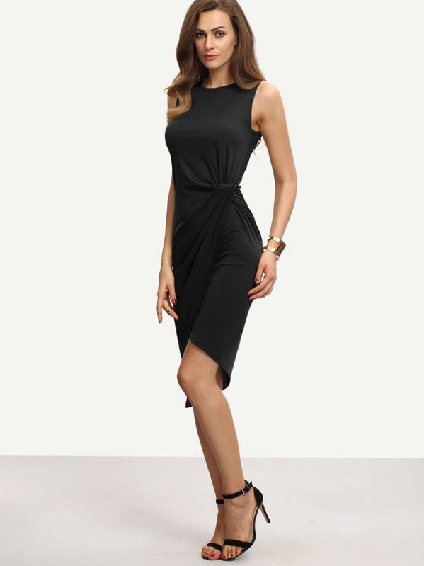 Sleeveless Knot Sheath Dress