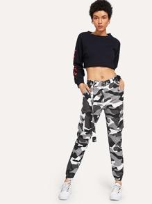 Byxor med bälte och komouflage mönster  6ed595bdeb57f