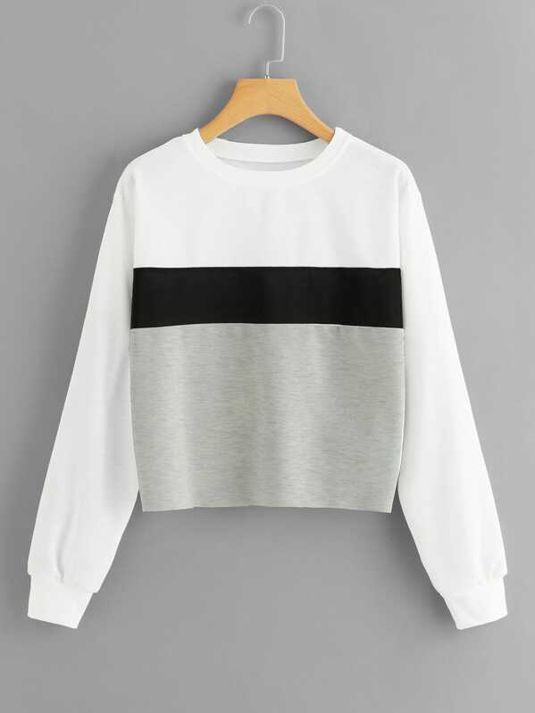 Color Block Sweatshirt, Multicolor