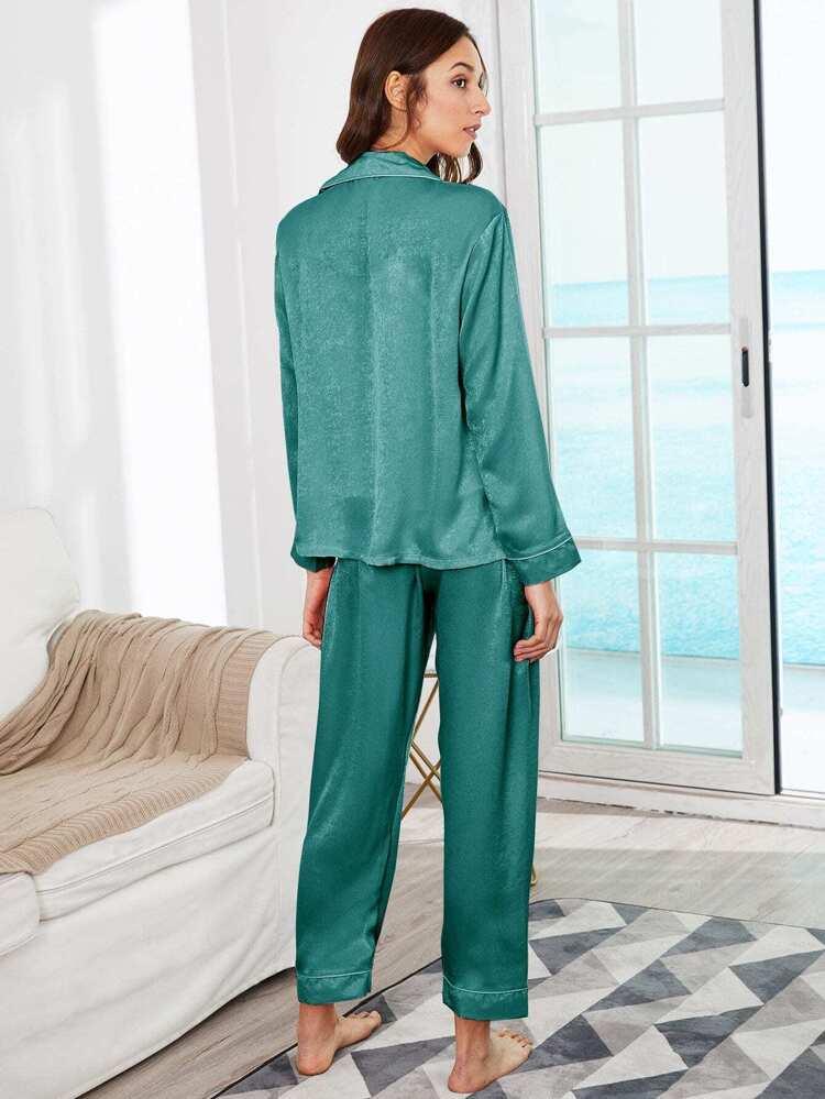 f18a322f64 Conjunto de pijama de tirante con bordado de letra con blusa 7 piezas