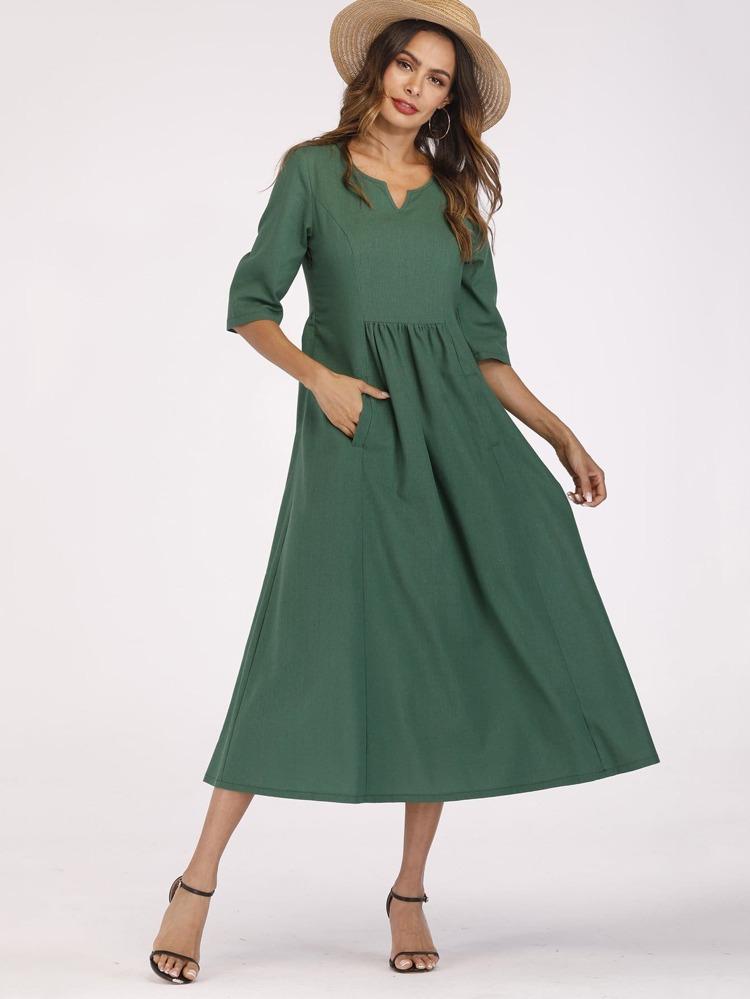 b5e3350184b06e Maxi jurk met zakken | SHEIN