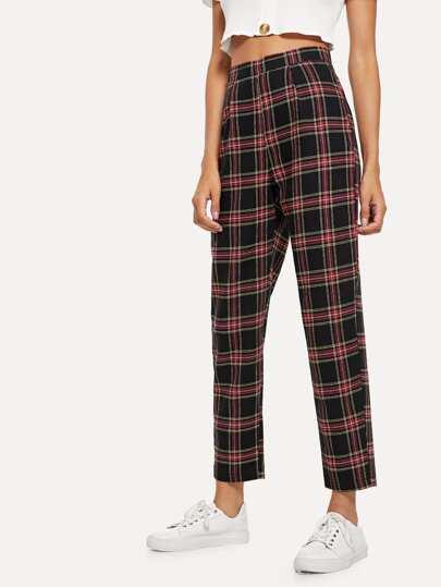 24c97d9c7d9 Plaid Zip Side Pants