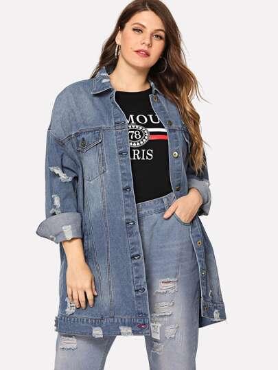 b31b1a449a33 Grandes tailles  vestes en jeans