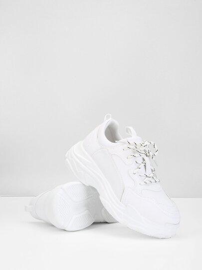 1cea70c444cc Topstitch Lace-Up Sneakers