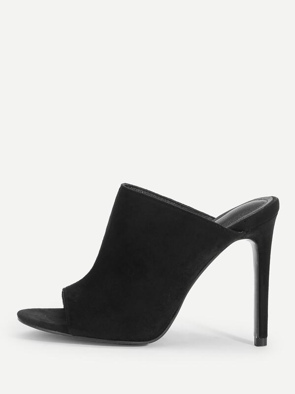 Single Sole High Heeled Mules Shein