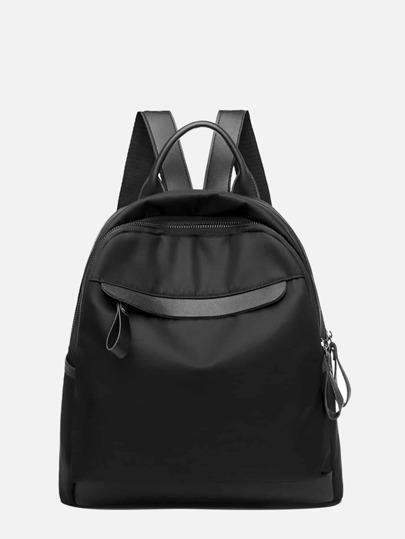 1596e3750424 Plain PU Backpack