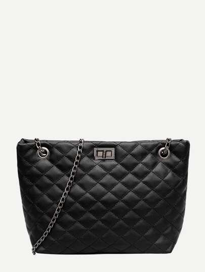 ffb88a62f932 Quilted Detail Chain Bag