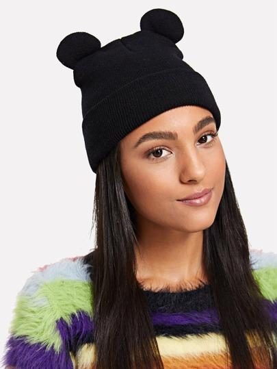 ad1454c1bf5 Cute Ear Knit Beanie Hat