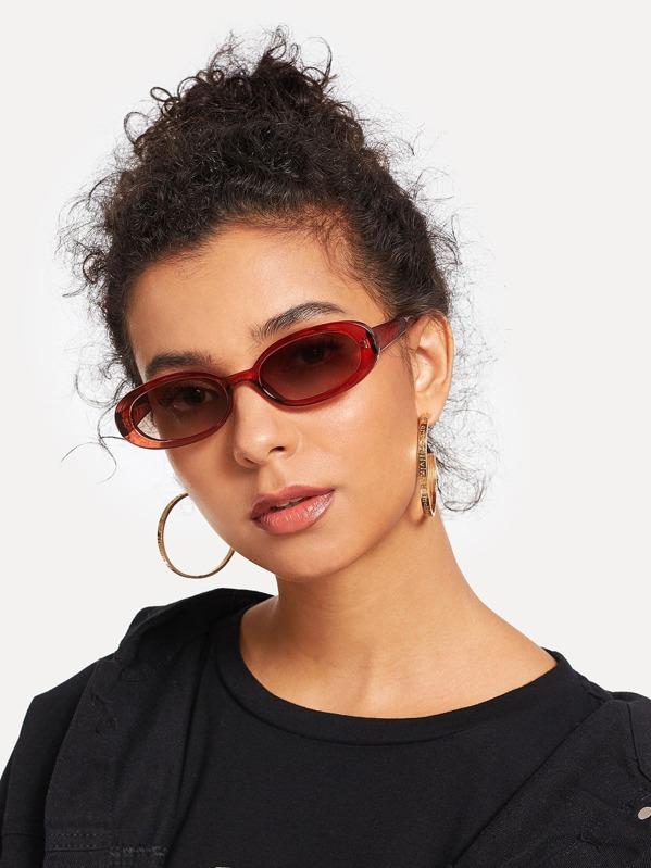938806d9d9 Oval Lens Sunglasses -SheIn(Sheinside)