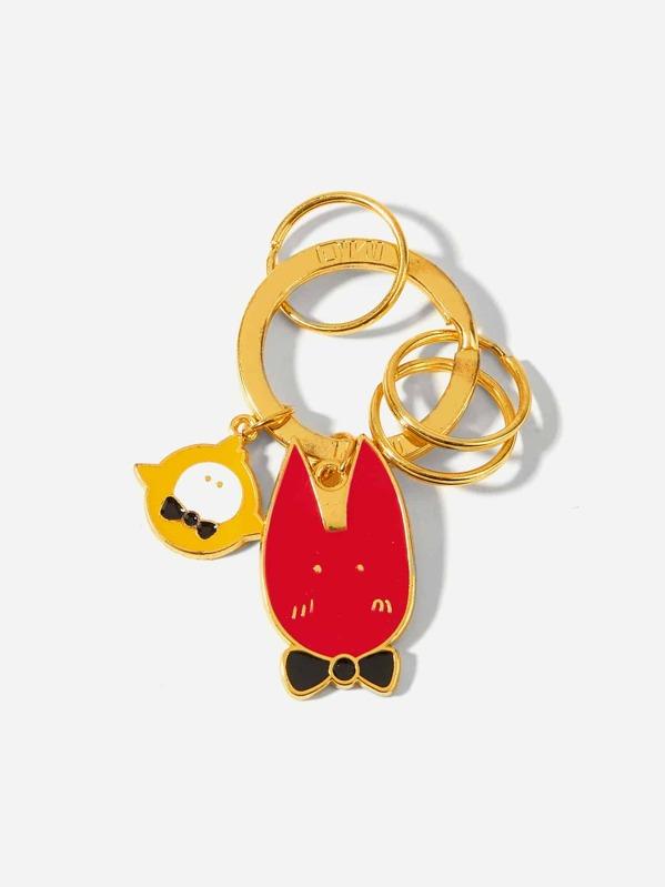 1be7d6d9ce Chick & Fox Ring Keychain -SHEIN(SHEINSIDE)