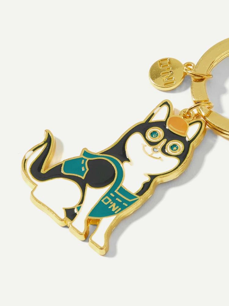 efd3008667 Dog Decorated Ring Keychain | SHEIN
