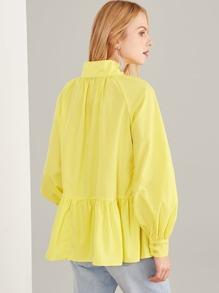 0dca8aed7f6 Асимметричная простая блузка с воротником