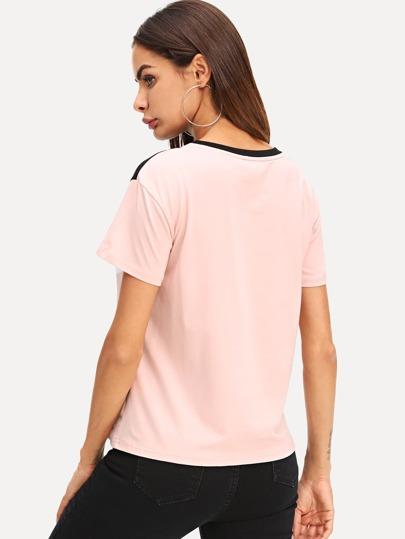 Cut   Sew Tshirt -Svenska SHEIN(SHEINSIDE) 3316dc59b