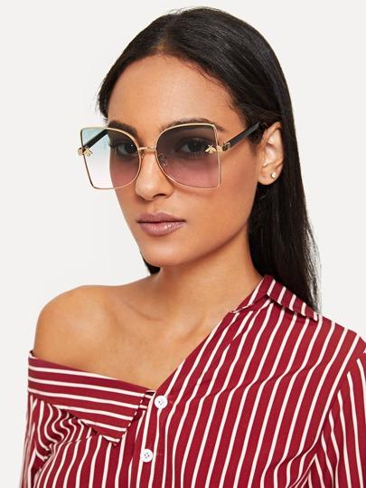 31a6087a62d Ombre Lens Metal Frame Sunglasses